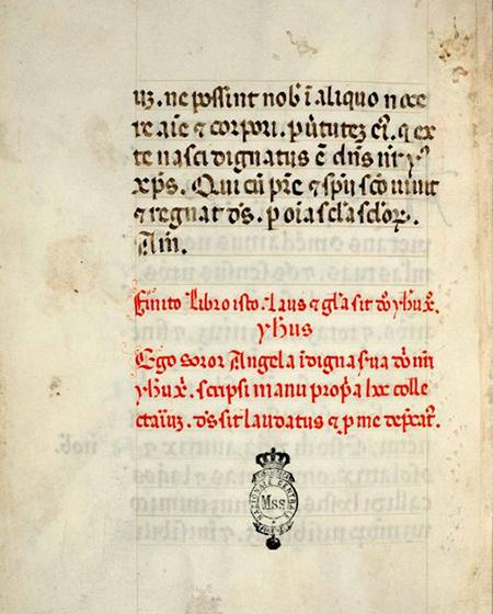 Kolofon rękopisu (XV w.)